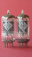 2x  ECC82 Telefunken 12AU7, 17mm smooth plates, same Code NOS, TOP tested