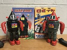 Electoric Galaxy Robot ME 108 Tin Toy Spring Mechanism Cone Head Comet Toys