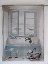 Wandbehang -NORDMEER-, Wandteppich, Gobelin, 70 x 100 cm. LUTEX.
