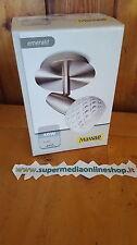 MASSIVE-PHILIPS APPLIQUE EMERALD 52070/31/10 ACCIAIO VETRO - BIANCO - E14