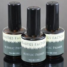 3pcs New Safe No-Burn Acrylic Nail Art Base Perfect Primer 0.5 Fl Oz. #60