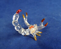 Vintage Blown Glass Figurine.. Clear & Colored Scorpion