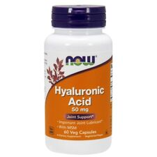 NOW Foods Hyaluronic Acid with MSM 50 mg. - 60 Vegetarian Capsules
