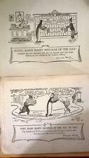 2 original Bertram J. Lamb  pip sqeak and wilfred cartoons on card