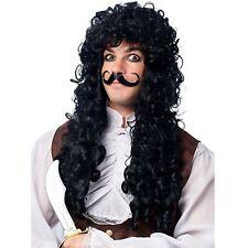 Louis XIV Wig Long Curly Black 18th Century Men's Captain Hook Style Wig