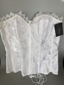 Fredericks Of Hollywood Corset White Lace Bridal Wedding Bustier 38 Dream $62.00