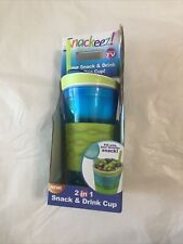 Snackeez! 2 In 1 Snack And Drink Cup Blue/Lime Green As Seen On TV