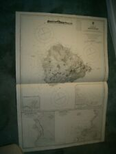 Vintage Admiralty Chart 1691 ASCENSION ISLAND 1910 edn