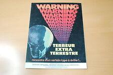 MARTIN LANDAU  JACK PALANCE WARNING TERROR  1980 RARE SYNOPSIS SCI-FI