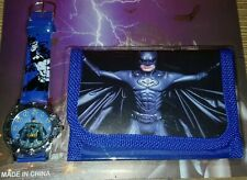 Batman Children's/ Kid's Watch & Wallet Gift Set For Boys Girls Christmas Gift