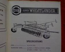 Horwood Bagshaw Super Wheatlander Disc Plow plough, Owner operators manual book
