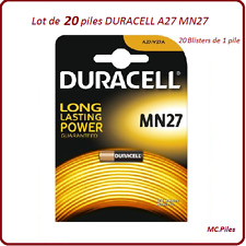 Lot de 20 piles MN27, A27 12V Duracell, livraison rapide et gratuite