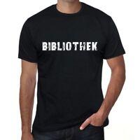 bibliothek Herren T-shirt Schwarz Geburtstag Geschenk 00548
