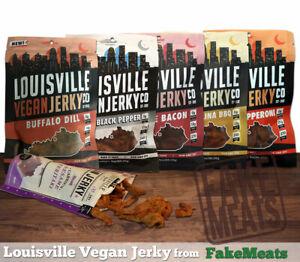 Louisville Vegan Jerky, 3 oz bags (5 Pack)