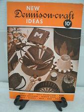 Dennison-Craft Ideas--1943--Booklet for Crepe Paper Crafts---Original Vintage