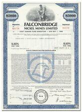 Falconbridge Nickel Mines Limited Bond Certificate