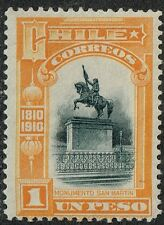 CHILE 1910 STAMP # 95 MNH CENTENNIAL SERIES SAN MARTIN