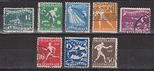 NVPH Netherlands Nederland nr 212-219 used Olympiade Amsterdam 1928 Pays Bas