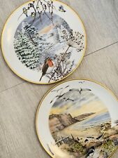 2 Peter Banett Porcelain 1976 Hand painted Plates