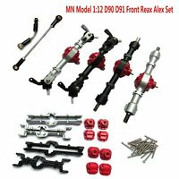 MN 1:12 D90 D91 RC Coche Recambios Front Rear Axle Bridge Shell Steering Rod Set