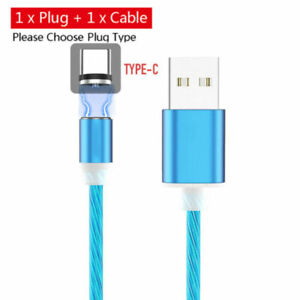 Luminous Glow LED Magnetic Cable Type C/ Micro USB Fast Charger Phone Cable Cord