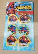 New Sealed 6X Marvel Spider-Man Erasers