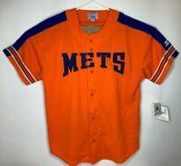 Vtg 90s New York NY Mets Mens XL Orange Starter Sewn MLB Baseball Jersey Tagged