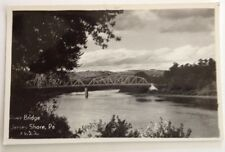 Vintage Early 1900's Real Photo Post Card. River Bridge - Jersey Shore PA.