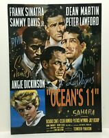 Original Oceans 11 Retro Movie Poster Tin Sign Rat Pack with Angie Dickinson