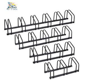 2/3/4/5/6 Steel Bike Bicycle Free Standing Floor Rack Stand Holder Mount Black