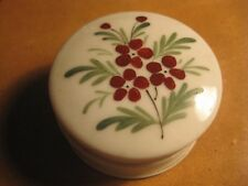 Vintage Trinket Covered Box Floral Flowers