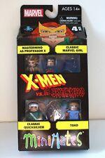 X-MEN vs the BROTHERHOOD Minimates Boxed set - Professor X Quicksilver Toad