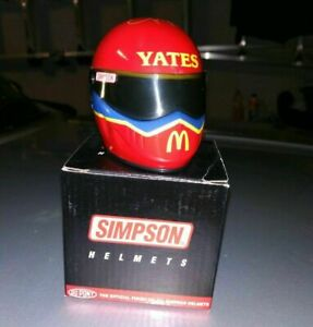 Jim Yates Simpson NHRA Drag Racing Mini Helmet McDonald's Signature Edition