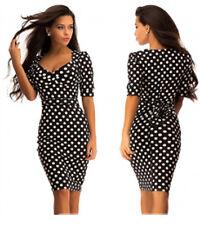 Sexy Kleid Knielang Abend Damen Mode Party Freizeit Sommer S M L XL  36 38 40 42