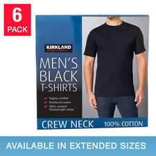 6 PACK Kirkland Signature Men Crew Neck T-shirts 100% Combed Cotton NEW PACKAGIN