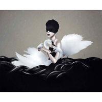Ruben Ireland - Let Go ART PRINT POSTER 50x70cm NEW UK Visual Artist girl swans