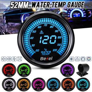 2'' 52mm LED Digital Car Water Temp Temperature Gauge Meter Sensor 20-120℃ 12V