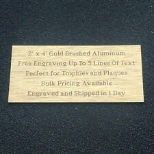 Custom Engraved METAL name plate 1.5 x 4 free PROOF plaque tag art label 4x1.5