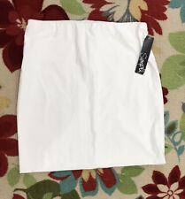 Sympli White Short Tube Skirt Size 16 NWT