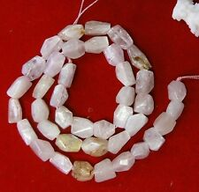 "RARE NATURAL SOFT PINK AFGHAN KUNZITE FACETED BEAD 17.5"" STRAND 207ctw"