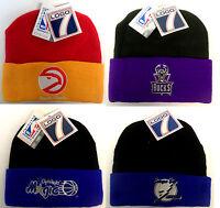 NWT NBA & NHL Vintage Throwback LOGO 7 Cuffed Knit Hat Beanie Cap NEW FREE SHIP