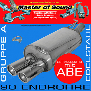 MASTER OF SOUND EDELSTAHL AUSPUFF BMW 520D 525D 530D 535D TOURING E61