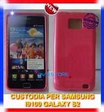 Custodia+Pellicola SOLID MAGENTA per Samsung Galaxy S2 i9100 plus I9105
