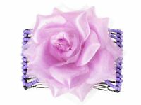 Lilac Rose Double Side Hair Comb Slides Clips Hair Accessories