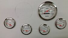 5 gauge White mechanical speedometer set STREET ROD HOT ROD, UNIVERSAL