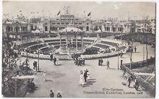 Franco British Exhibition 1908, Elite Gardens PPC Contemporary PMK, By Valentine