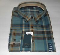 Arrow Men's Long Sleeve Oxford Plaid Shirt Green Multi XXL NWT MSRP $54.00