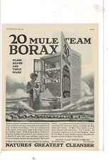 AUG 1923 DELINEATOR 20 MULE TEAM BORAX NATURES GREATEST CLEANSER AD PRINT G109