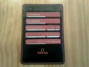 GENUINE OMEGA WATCH CARDS X5, PICTOGRAMS, CERTIFICATE AND WARRANTIES
