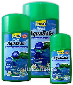 TETRA POND AQUASAFE GARDEN FISH POND TAP SAFE WATER TREATMENT 250ML 500ML 1L